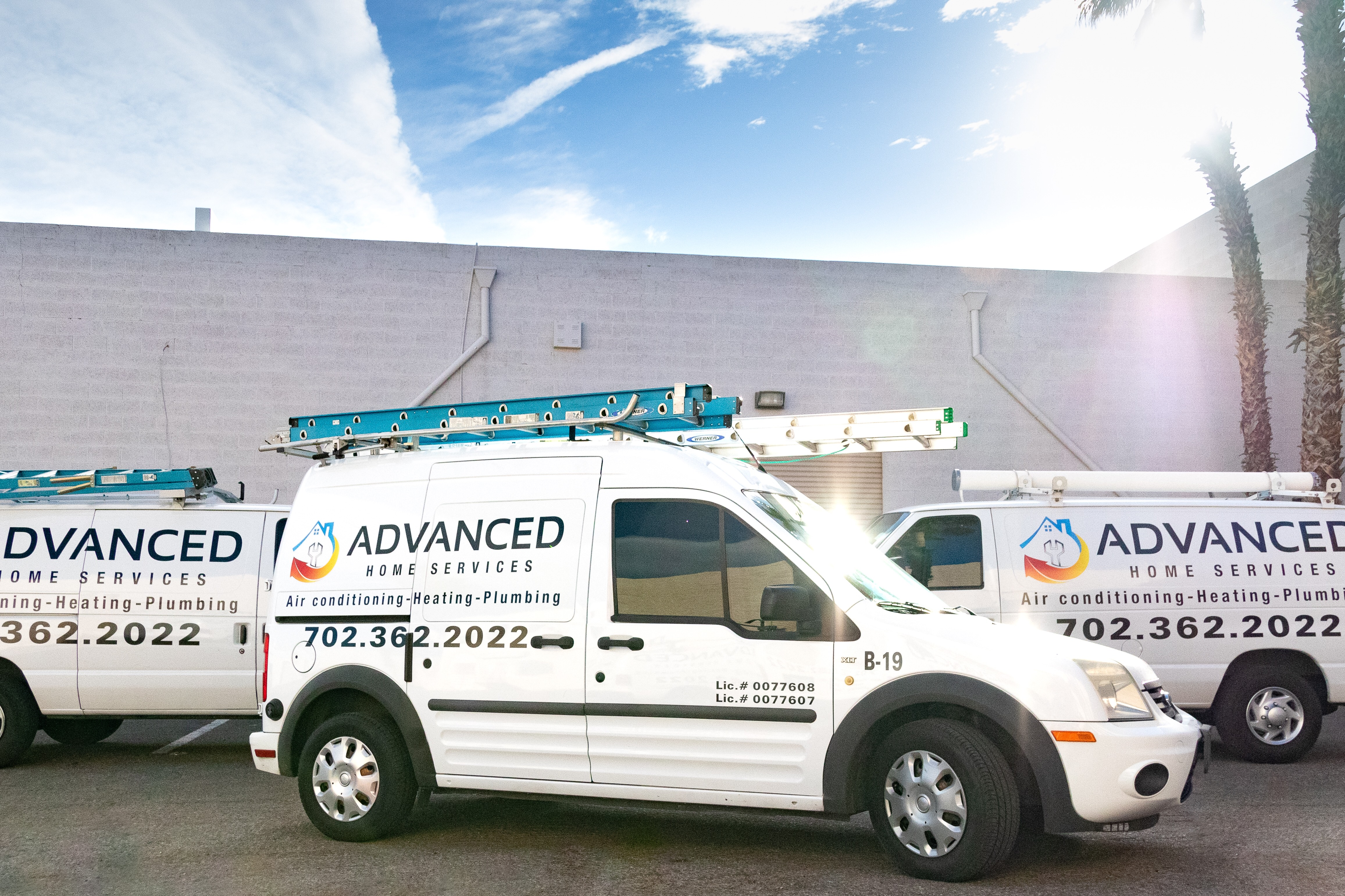 Advanced Home Services vehicle fleet